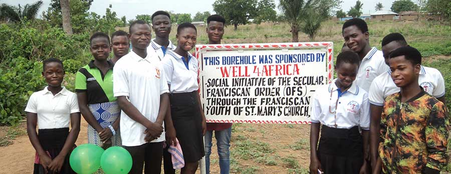 Blessing in Ghana - OFS and Franciscan youth