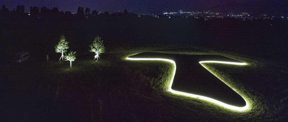 TAU at night at Piandarca