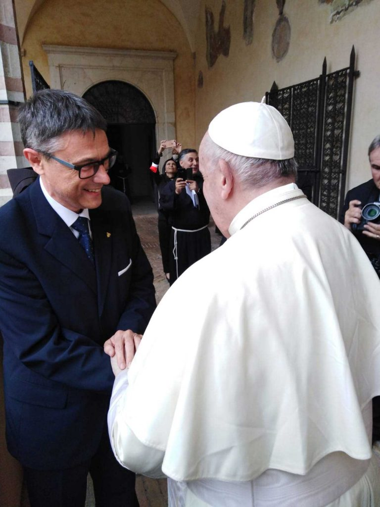 Tibor Kauser and Pope Francis